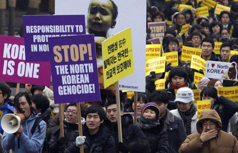 protesting north korean genocide