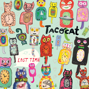 Album art for the upcoming Tacocat album Lost Time.