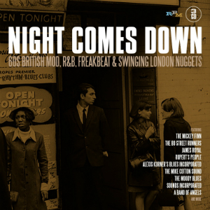 Album cover for Night Comes Down, out now on RPM Records.