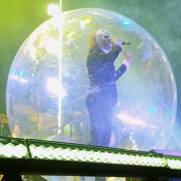 Wayne Coyne, frontman of the Flaming Lips, performed in a bubble at Psycho Fest Las Vegas 2021