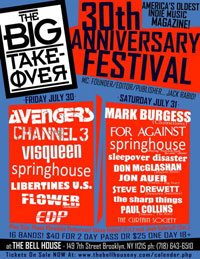 Big Takeover 30th Anniversary Festival Poster