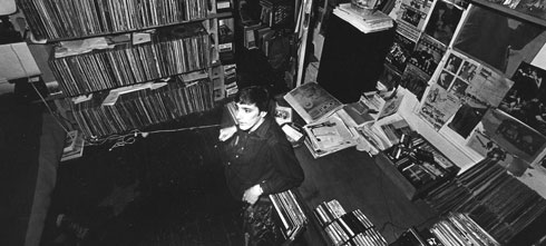 Jack Rabid in the Eldridge Street apartment, circa 1986