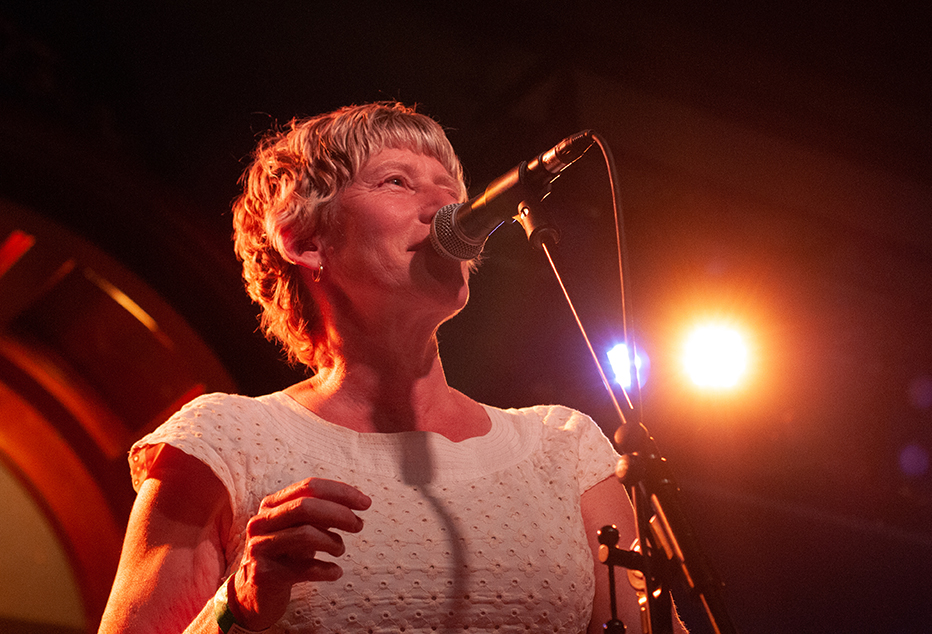 Sally Timms of the Mekons