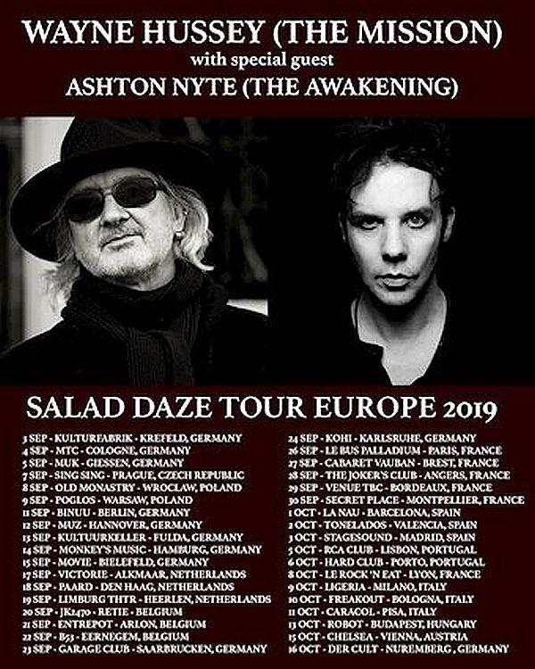 Wayne Hussey - Tour dates
