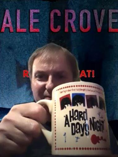 Dale Crover holding a Beatles coffee mug