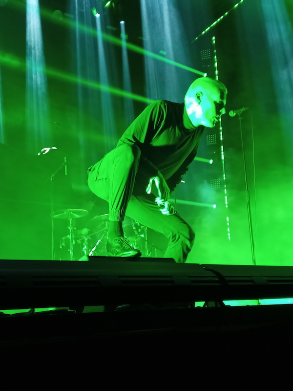 Deafheaven frontman George Clarke scans the crowd at Psycho Las Vegas 2021